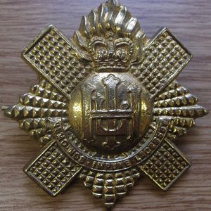 Royal Highland Fusiliers Pipers Gold Cap Badge