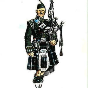 the-highland-light-infantry-piper-of-the-1st-battalion-in-review-order