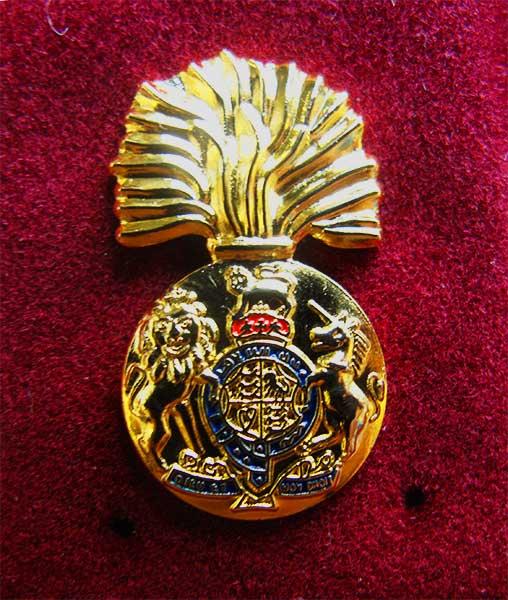 royal scots fusiliers lapel badge