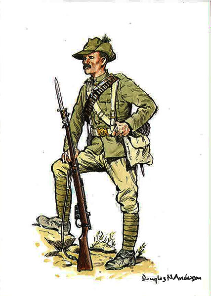 The-Highland-Light-Infantry-Private-of-the-1st-Battalion-in-march-order---south-africa-May-1900