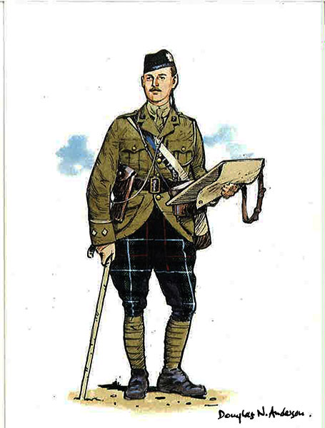 The-highland-light-infantry-officer-of-the-2nd-battalion-in-service-dress-1913-1914